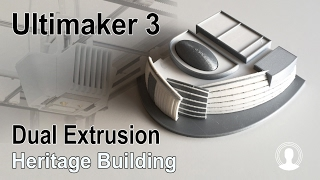 Heritage Building Model - Ultimaker 3 Dual Extrusion