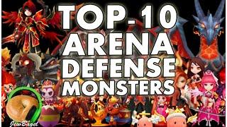 SUMMONERS WAR : Top 10 Arena Defense Monsters (Fire, Water, Wind)