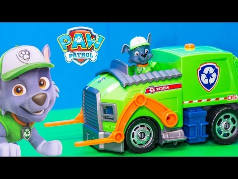 Unboxing the Paw Patrol Lights and Sound Rocky Vehicle Toy