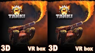 Tanki X 3D TV VR box video Side by Side SBS видео для виар очков