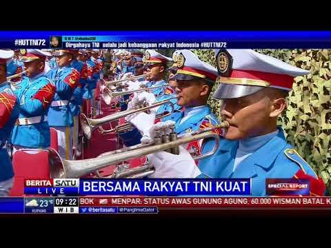 Upacara HUT Ke-72 TNI Selesai, Pasukan Dibubarkan