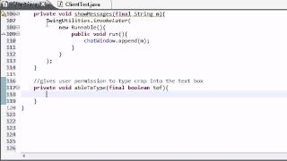 Intermediate Java Tutorial - 57 - showMessage and ableToType