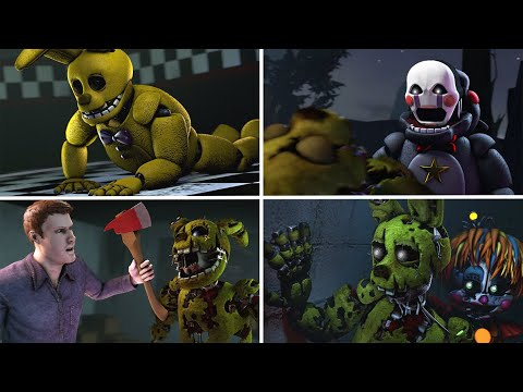 all of the rise of springtrap animations