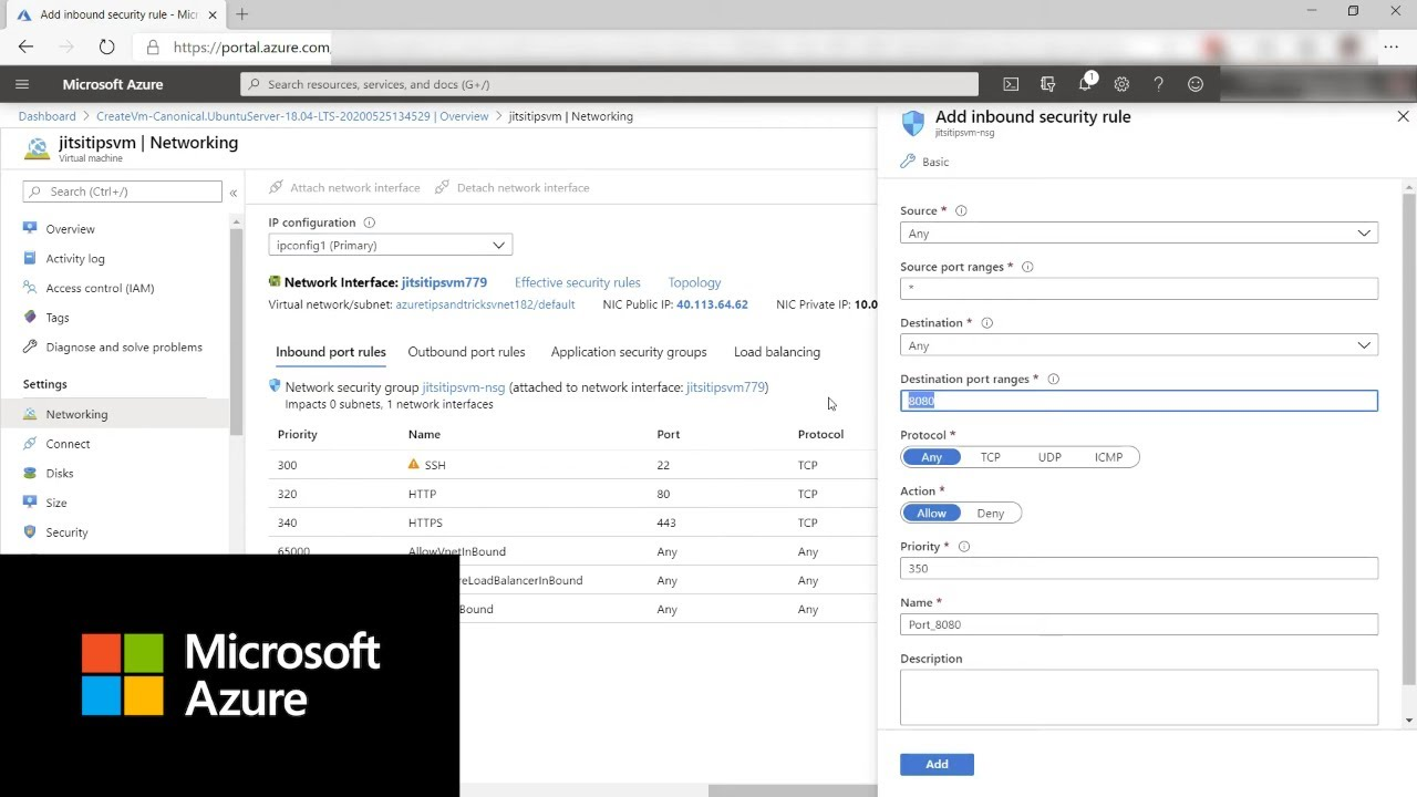 Creating a private chat room with Jitsi on Microsoft Azure VM | Azure Tips and Tricks