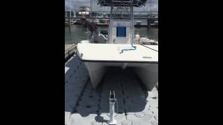 Dock Blocks Catamaran-Style Drive-on Boatlift