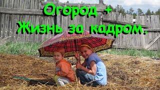 Семья Бровченко. Огород + Жизнь за кадром (ч.7) - помощь детей, поливаем, мульчируем. (07.16г.)