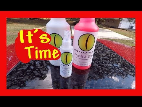 Dinowax wash and wax as well as tire dressing review Real World with mistakes