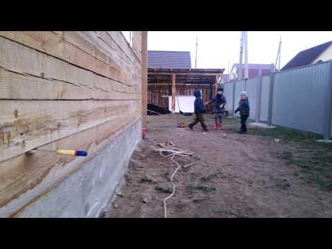 Брусовой дом на гвоздях. Как строят дома. Исправление ошибок строителей. смотреть видео онлайн