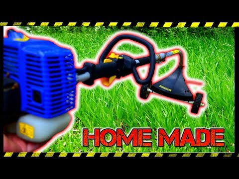 MOW LAWN USING WEED WACKER (Whipper Snipper) HACK