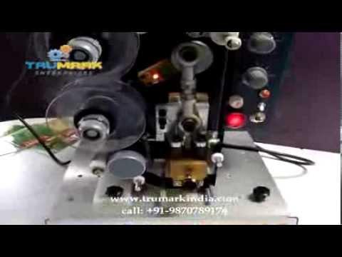 semi auto ribbon batch printer, hot foil coder, date coding machine