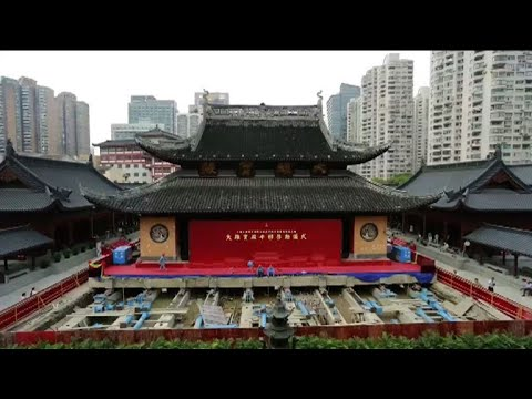 Shanghai temple pulls off feat in shifting 2,000-tonne hall