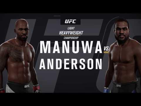 UFC MANUWA vs ANDERSON Heavyweight Championship  Full Match