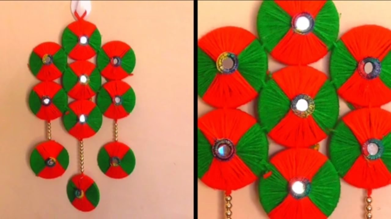 Diy Wall Hanging Craft Using Woolen Woolen Wall Hanging Design