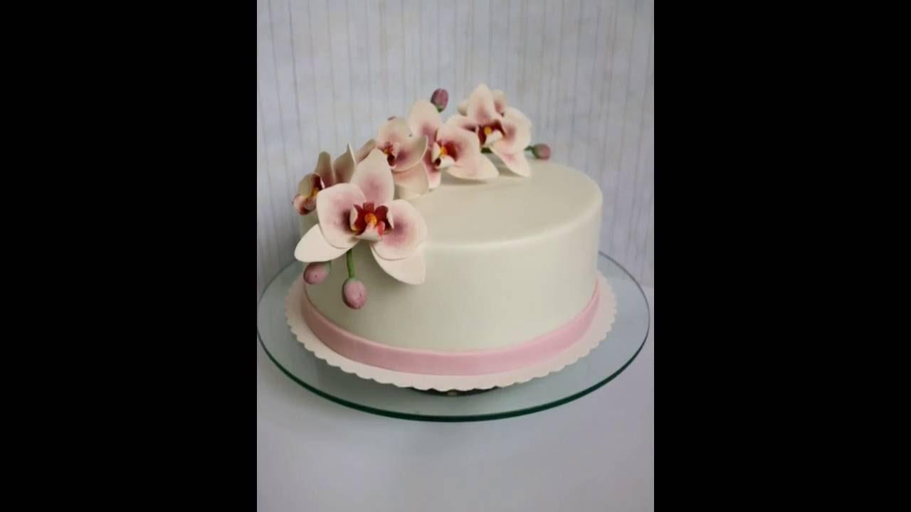 Orchideen Torte Orchids Fondant Cake Tort S Orhideyami Youtube