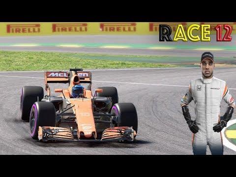F1 2017 Belgium Grand Prix Career McLaren Honda Race 12 GREAT FORM