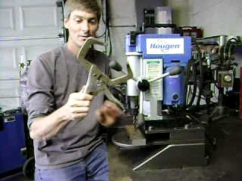 Magnetic Drill Made Into Small Drill Press Youtube