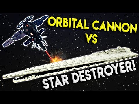 LEGO STAR DESTROYER VS ORBITAL CANNON! - Brick Rigs Gameplay Challenge & Creations - Military Test