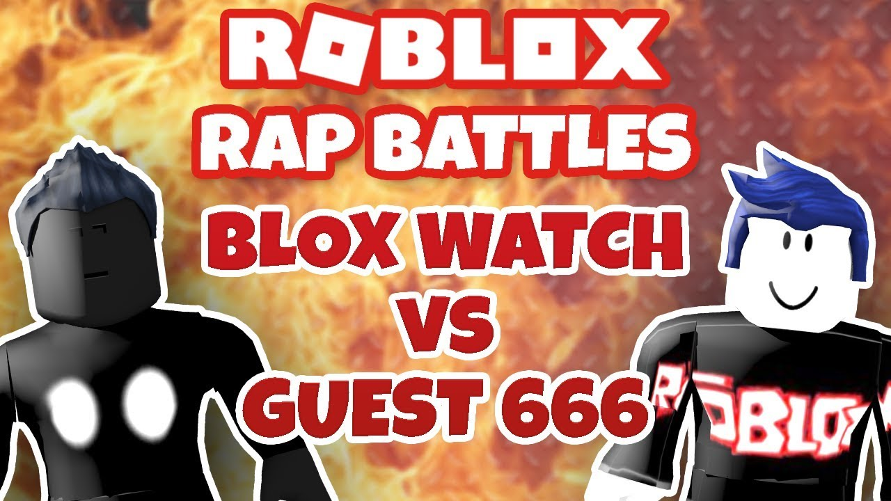 Roblox Epic Rap Battles Youtube Blox Watch Vs Guest 666 Roblox Rap Battles Youtube