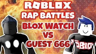 Blox Watch vs Guest 666 - Roblox Rap Battles