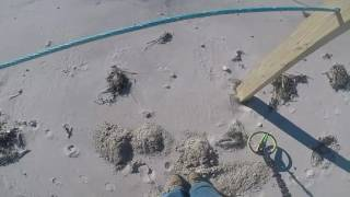 Sandwich Beach Metal Detecting with Excalibur ll