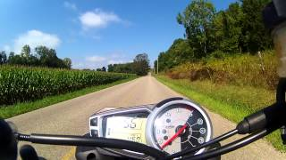 2012 Triumph Street Triple R and ION Air Pro 2  WI-FI camera first test..
