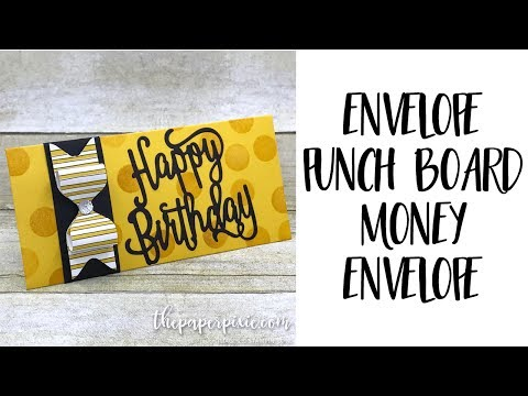 Envelope Punch Board Money Envelope