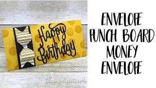 Envelope Punch Board Money Envelope
