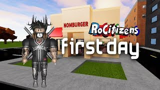 Roblox Rocitizens EP1 (WORKING AT NOMBURGER)