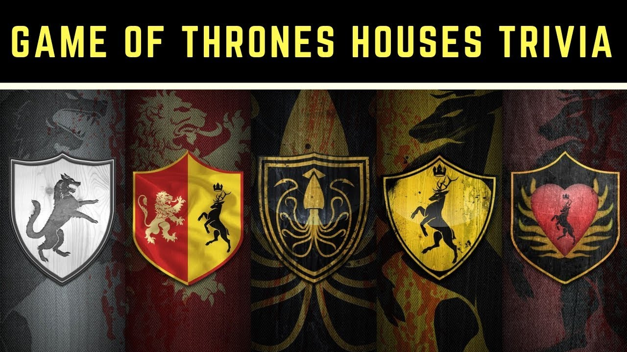 Name The House Game Of Thrones Sigil Trivia Youtube