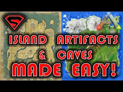 ARK SURVIVAL EVOLVED: THE ISLAND ARTIFACTS & CAVES MADE EASY!!!