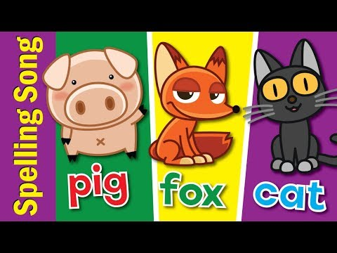 The Spelling Song | Learn to Spell 3 Letter Words | Kindergarten, Preschool & ESL | Fun Kids English