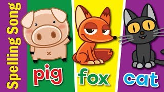 The Spelling Song | Learn to Spell 3 Letter Words | Kindergarten, Preschool & ESL | Fun Kids English