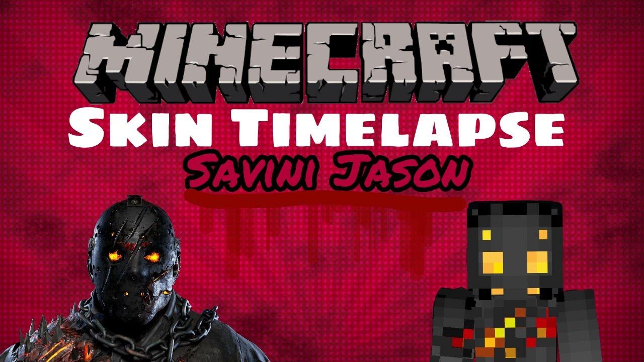 Minecraft Savini Jason Voorhees Skin Timelapse YouTube - Skins para minecraft pe jason
