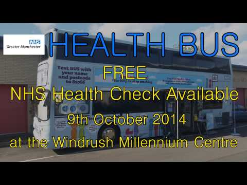 The First Stop Health Bus is a NHS Greater Manchester