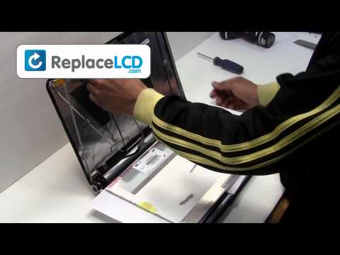 Gateway LCD Screen Replacement Guide - Replace Fix Repair Install Laptop - Packard Bell NV52 NV48