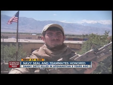 Navy SEAL and teammates honored
