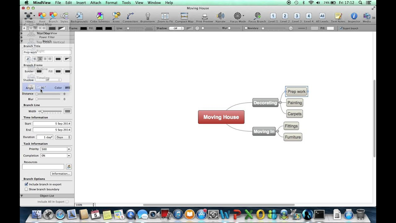 mindview 5 mac gantt charts and project management youtube