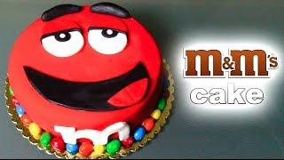 BIG RED M&M CAKE! Thumbnail