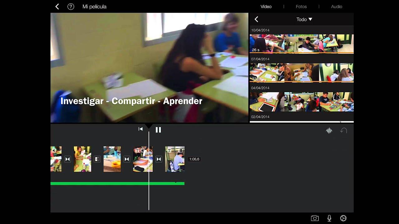 Cómo hacer películas con iMovie para iPad - YouTube