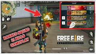 RANKED 21 KILLS SQUAD GAMEPLAY FAILED MATCH #1 NAYEEM FREE FIRE !!!