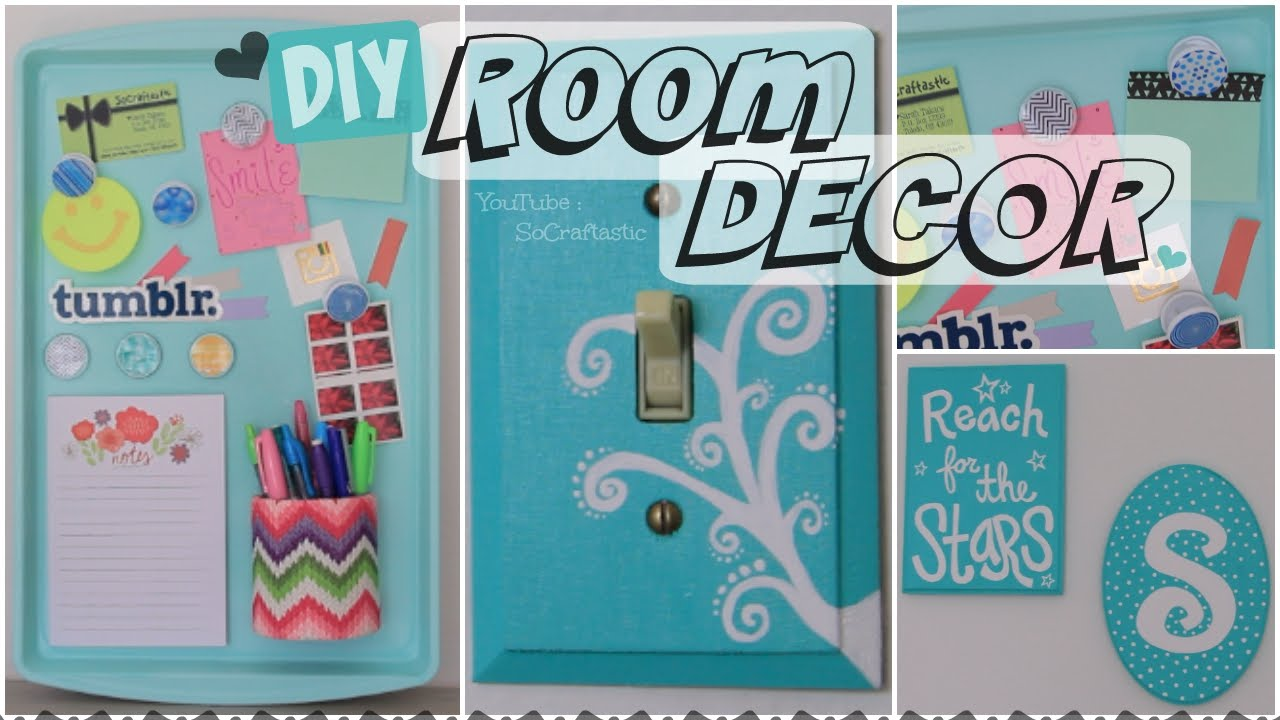 Magnetic Wall Decor diy room decor // wall art & magnetic memo board how to - youtube