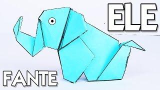 Cómo hacer un ELEFANTE de PAPEL | Origami