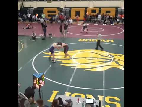 Hunter William's New Plymouth middle school wrestler