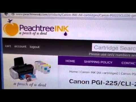 www.peachtreeink.com - Deals for printer ink cartridges  Canon PGI-225