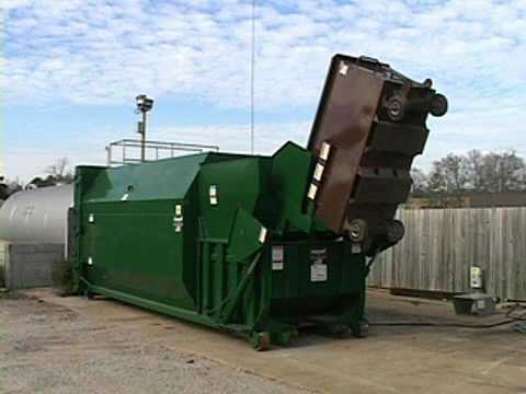 Self Contained Compactor With Cart Dumper Youtube