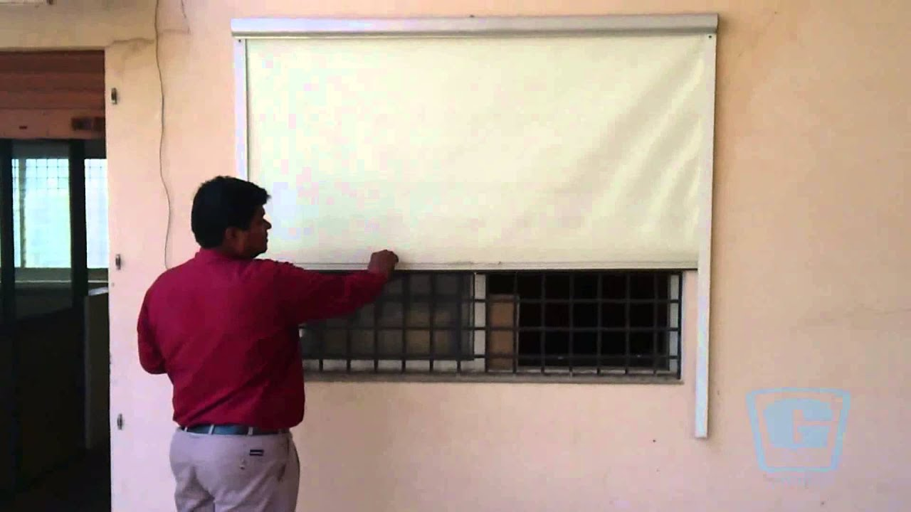 Roller Blinds With Side Guide Rail Youtube