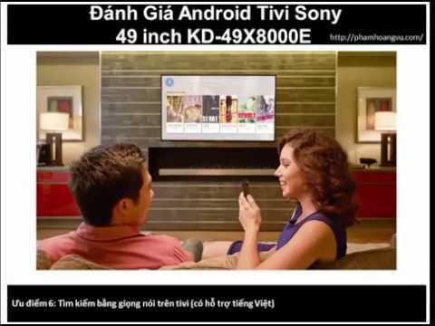 Android Tivi Sony 49 inch KD 49X8000E thiết kế gọn gàng, sang trọng