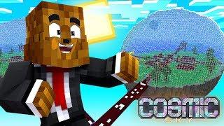 How To Make a $10,000,000 Sugarcane Farm (Island LVL 9) - Minecraft Cosmic Sky #15 | JeromeASF