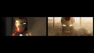 Iron Man 3 Lego Trailer Comparison