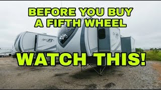 Fifth Wheel construction and layout differences! Watch this first!